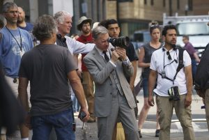 Paul Feig en el rodaje de Cazafantasmas (2016)