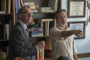 Paul Feig y Jefferson Sage en el rodaje de Cazafantasmas (2016)