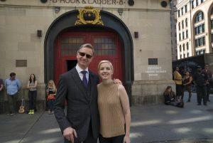 Paul Feig y Katie Dippold en el rodaje de Cazafantasmas (2016)