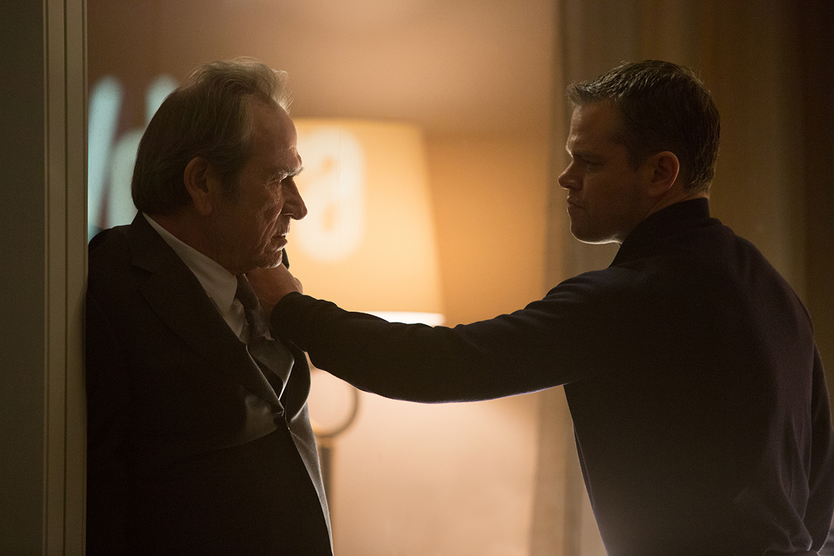 Tommy Lee Jones y Matt Damon en Jason Bourne