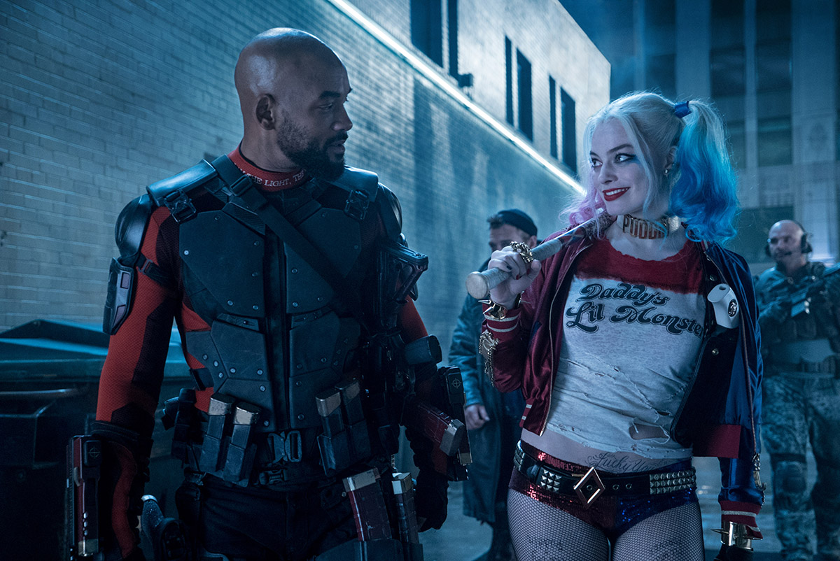 Will Smith y Margot Robbie en Escuadrón Suicida