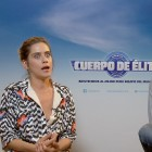 María y Miki Esparbé en la presentación de Cuerpo de élite