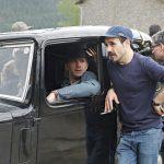 James D'Arcy y Koldo Serra en el rodaje de Gernika