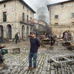 Koldo Serra en el rodaje de Gernika