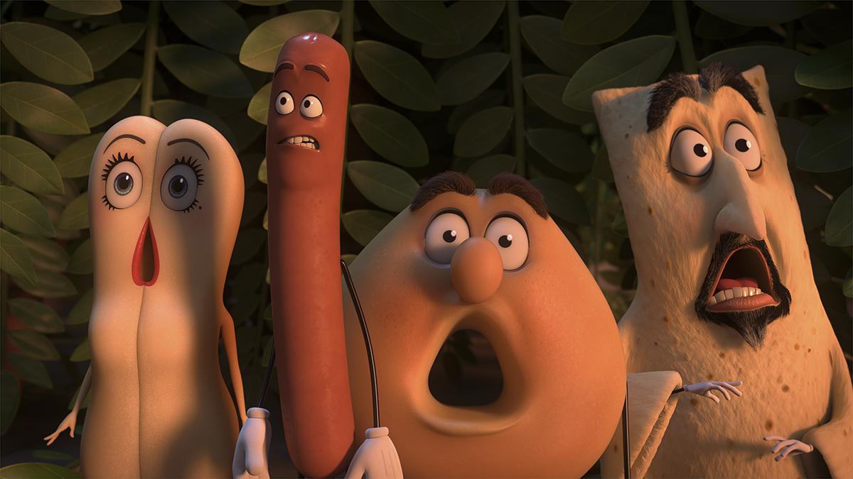 Brenda, Frank, Sammy y Lavash en La fiesta de las salchichas