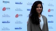 Laura Contreras en el presentación de Luz de Soledad