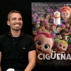 Damián Molla y Juan Ibáñez en la presentación de Cigüeñas
