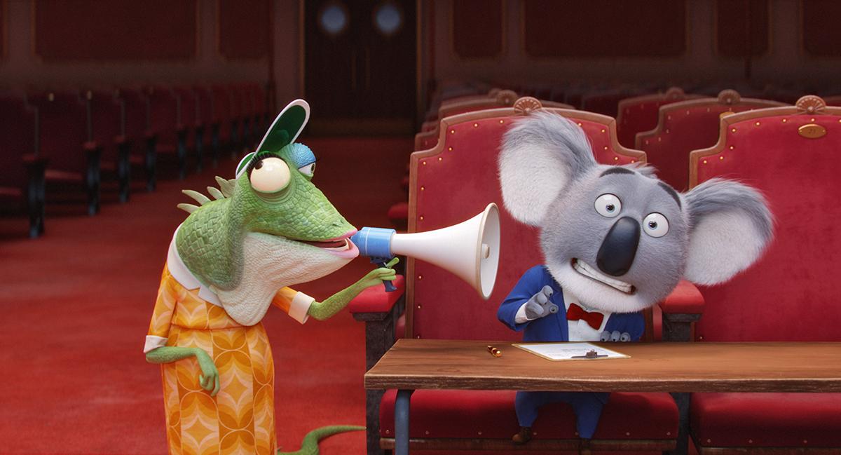 La Señorita Crawly y Buster Moon en ¡Canta!