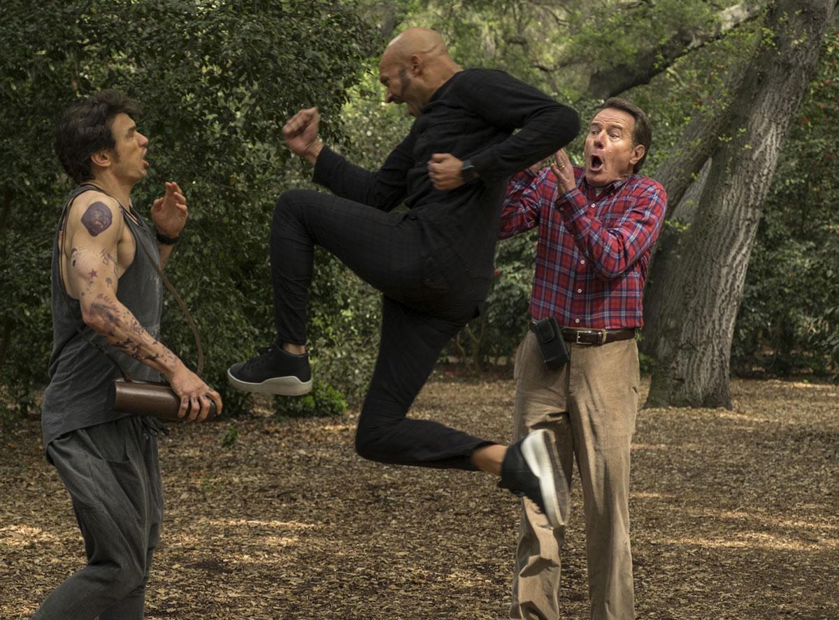 James Franco, Keegan-Michael Key y Bryan Cranston en ¿Tenía que ser él?