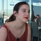 María Pedraza en la presentación de Amar