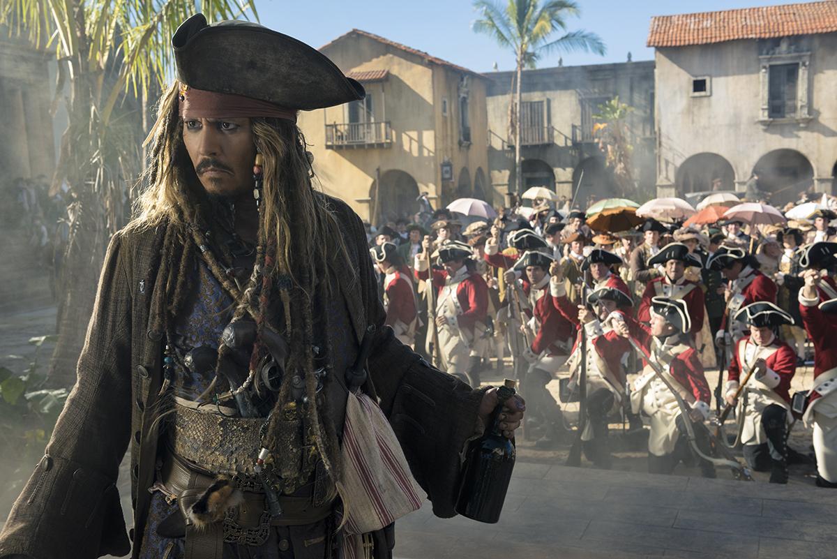 Johnny Depp en Piratas del Caribe: La venganza de Salazar