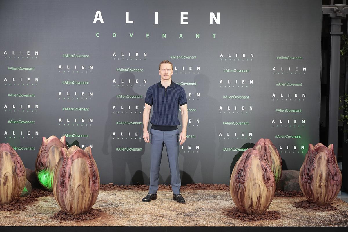 Michael Fassbender en la presentación de Alien: Covenant en Madrid