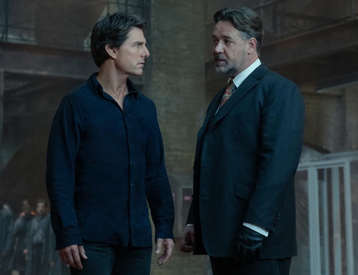 Tom Cruise y Russell Crowe en La momia (2017)