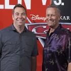 Brian Fee y Kevin Reher en la presentación de Cars 3