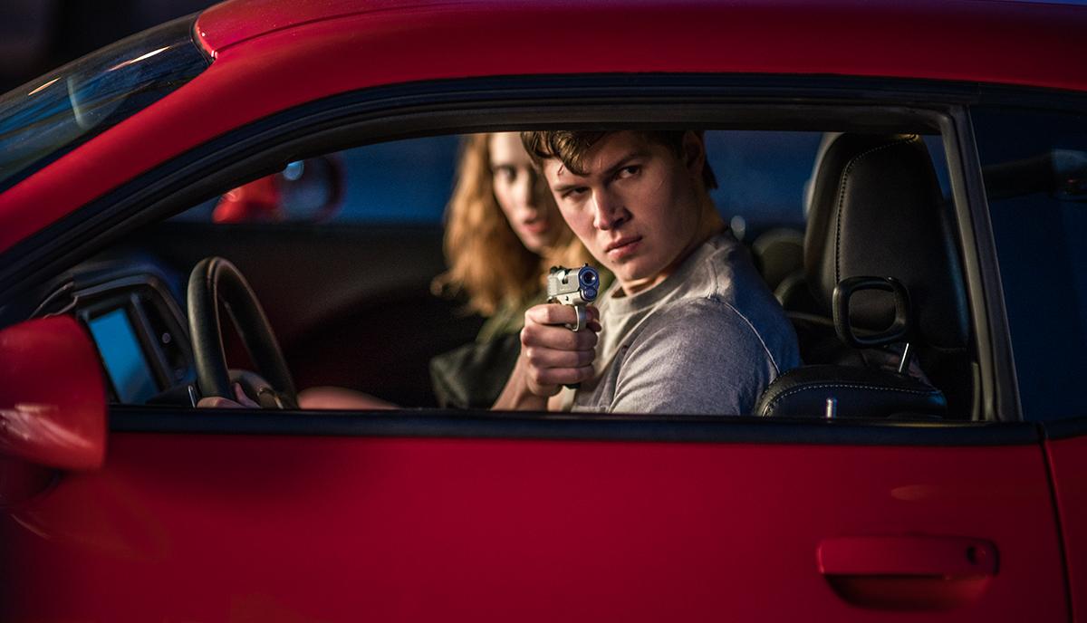 Ansel Elgort y Edgar Wright en el rodaje de Baby Driver