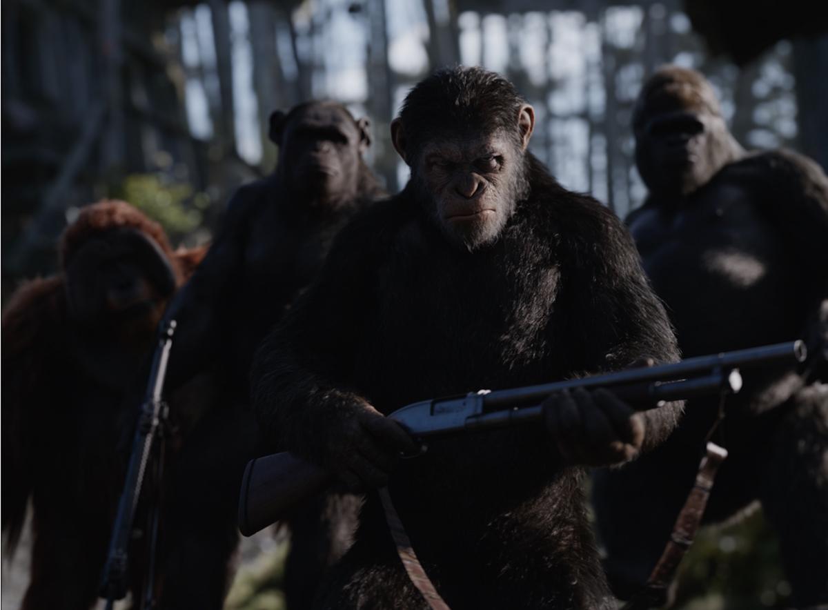 César (Andy Serkis) en La guerra del planeta de los simios