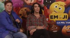 Carlos Latre y Mario Vaquerizo en la presentación de 'Emoji: La película'