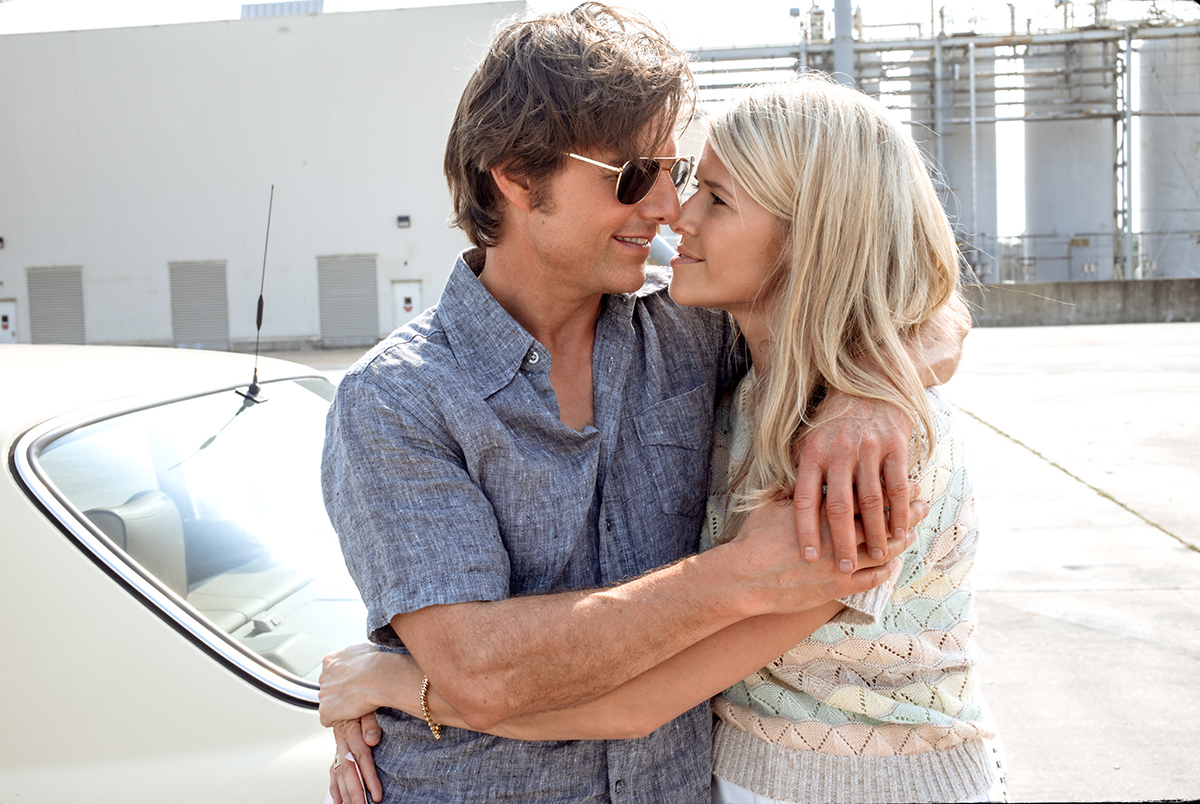 Tom Cruise y Sarah Wright en Barry Seal: El traficante