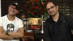 Carlos Santos y Jordi Sánchez en la presentación de La Lego Ninjago: La película