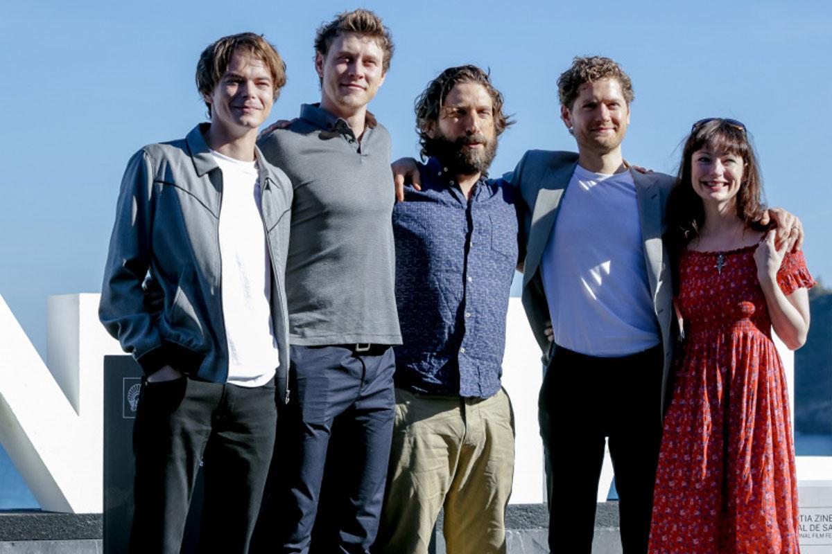 Charlie Heaton, George MaCkay, Sergio G. Sánchez, Kyle Soller y Nicola Harrison presentado El secreto de Marrowbone