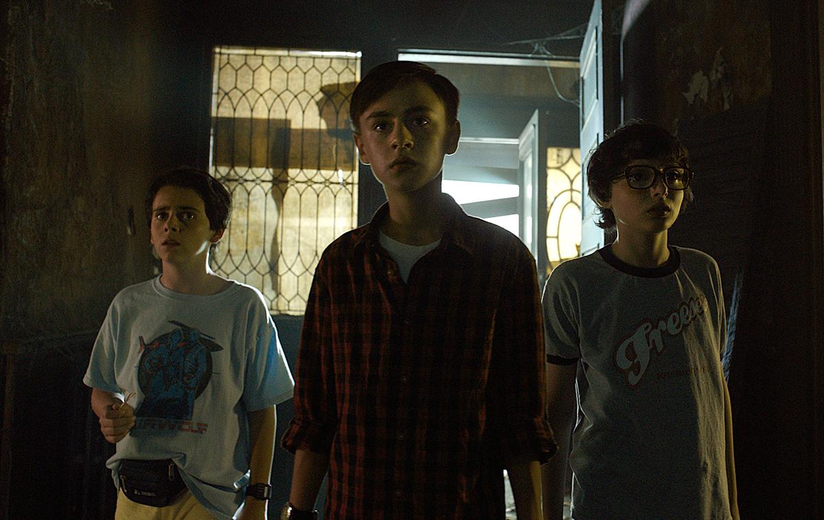 Jack Dylan Glazer, Jaeden Lieberher y Finn Wolfhard en IT (2017)