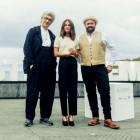Win Wenders, Alicia Vikander y Celyn Jones en la presentación de Inmersión (Submergence) (foto: Gari Garaialde)