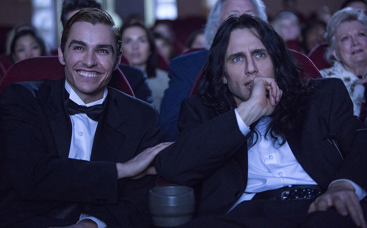 Dave Franco y James Franco en The disaster artist