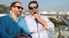 Alfonso Sánchez y Alberto López en la presentación de El mundo es suyo en el pasado Festival de Málaga