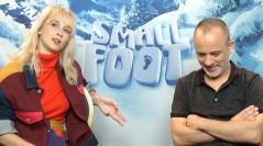 Ingrid García-Jonsson y Javier Gutiérrez en la presentación de Smallfoot