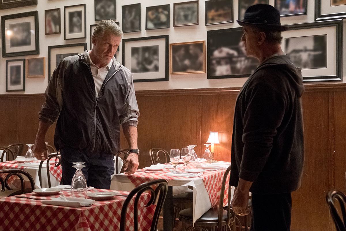 Dolph Lundgren y Sylvester Stallone en Creed II: La leyenda de Rocky