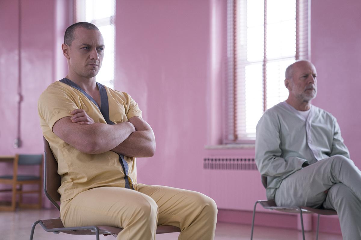 James McAvoy y Bruce Willis en Glass (Cristal)