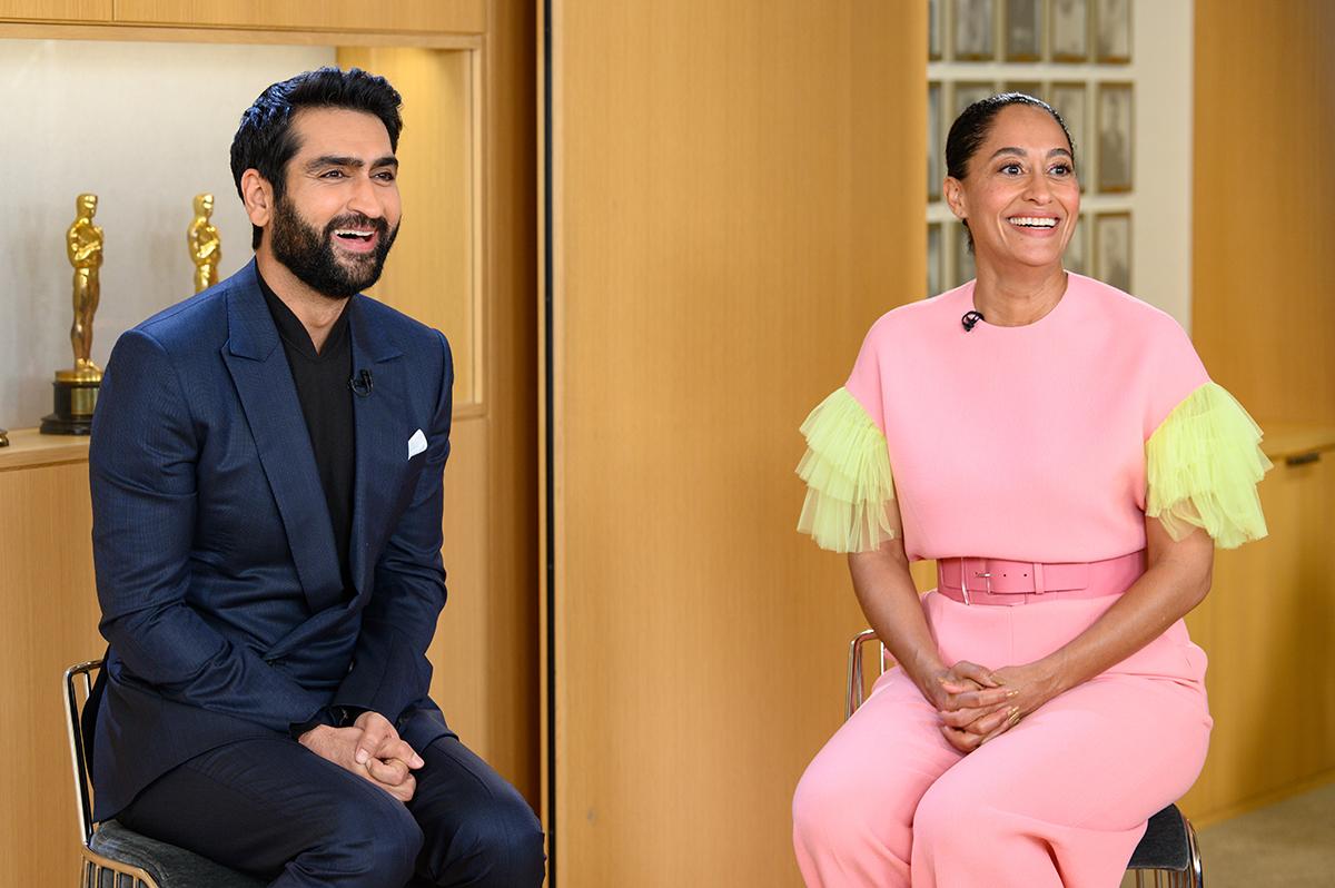 Kumail Nanjiani yTracee Ellis Ross en las nominaciones a los Oscars 2019