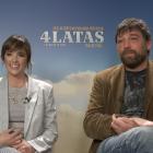 Susana Abaitua y Hovik Keuchkerian en la presentación de 4 latas