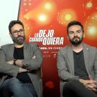 Adolfo Valor, Carlos Therón y Cristóbal Garrido en la presentación de Lo dejo cuando quiera