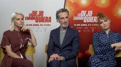 Amaia Salamanca, Ernesto Alterio y Cristina Castaño en la presentación de Lo dejo cuando quiera