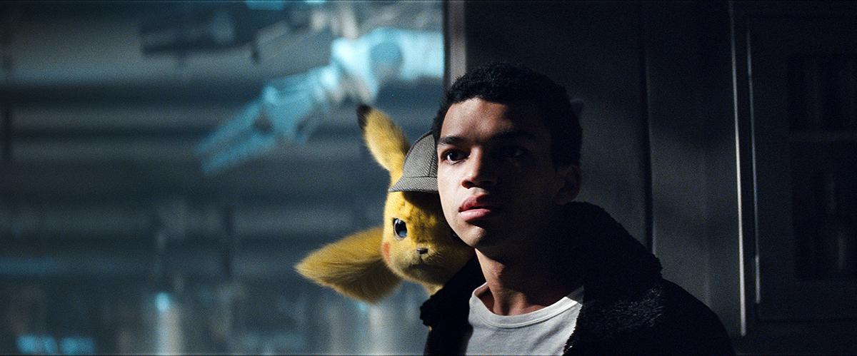 Pikachu y Justice Smith en Pókemon: Detective Pikachu