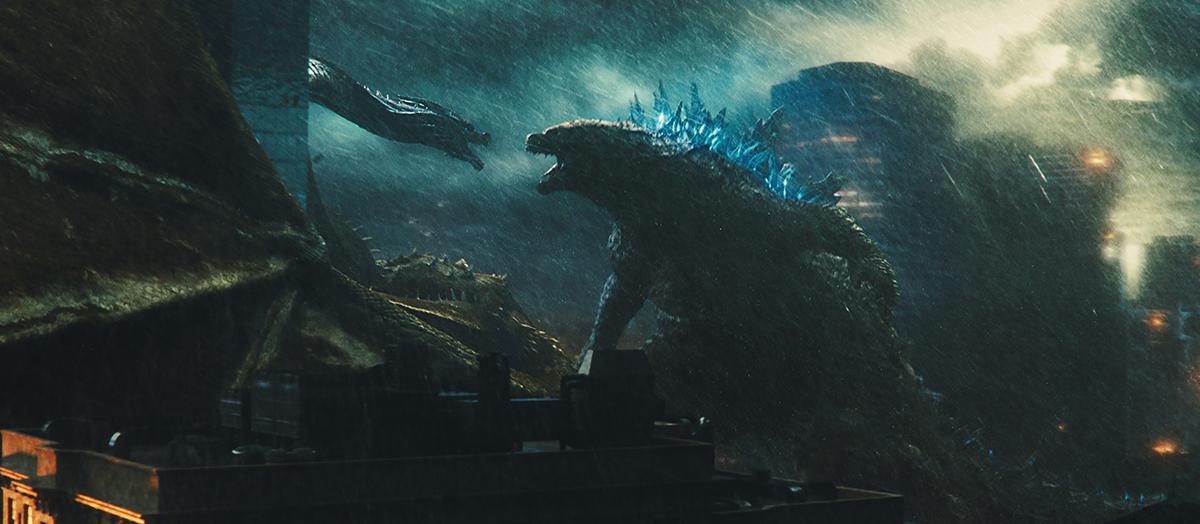 Ghidorah y Godzilla en Godzilla: Rey de los monstruos
