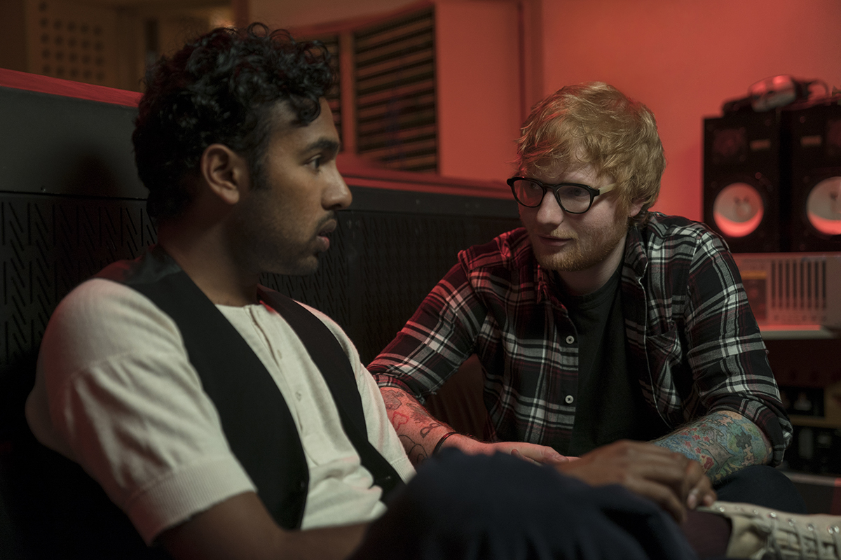 Himesh Patel y Ed Sheeran en Yesterday