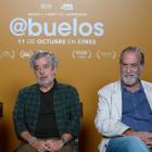 Roberto Álvarez, Carlos Iglesias y Ramón Barea en la presentación de Abuelos