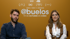 Santiago Requejo y Clara Alonso en la presentación de Abuelos