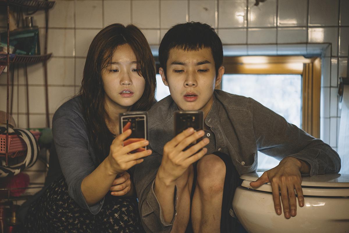 So-dam Park y Woo-sik Choi en Parásitos