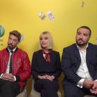 Adrián Lastra, Alexandra Jiménez y Franky Martín en la presentación de Si yo fuera rico