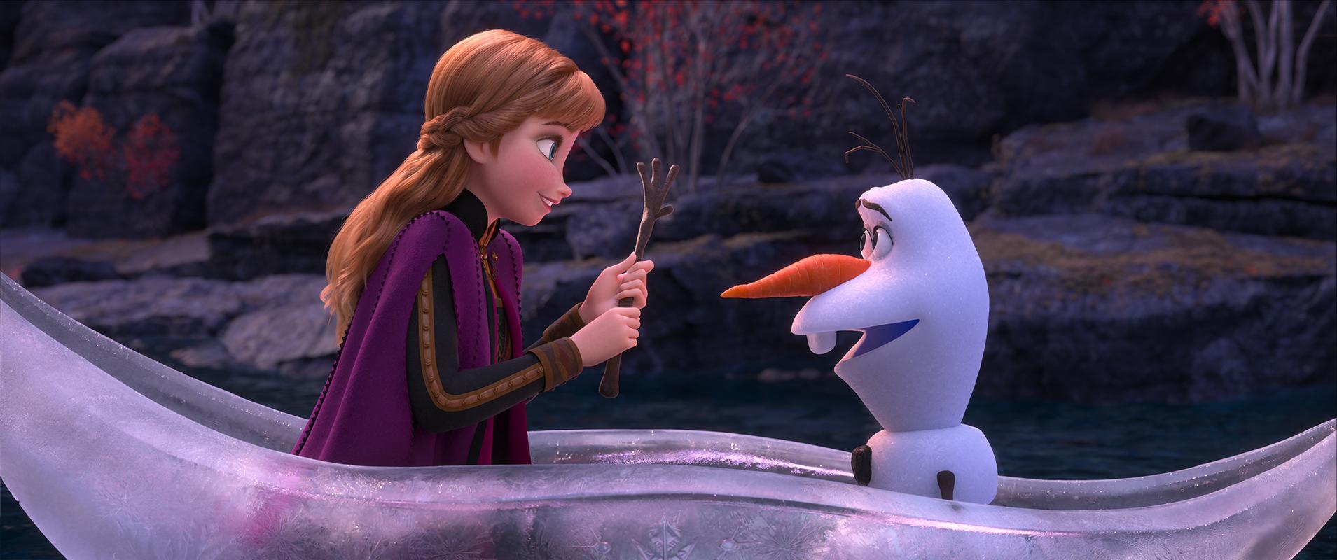 Anna y Olaf en Frozen II