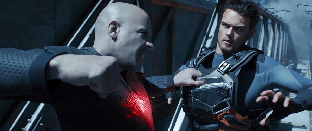 Vin Diesel y Sam Heughan en Bloodshot