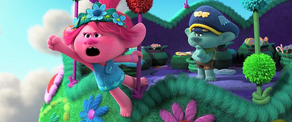 Poppy y Branch en Trolls 2: Gira mundial
