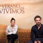 Guiomar Puerta, María Pedraza y Carlos Cuevas en la presentación de 'El verano que vivimos' en el 68 Festival Internacional de Cine de San Sebastián