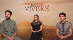 Javier Rey, Blanca Suárez y Pablo Molinero en la presentación de 'El verano que vivimos' en el 68 Festival Internacional de Cine de San Sebastián