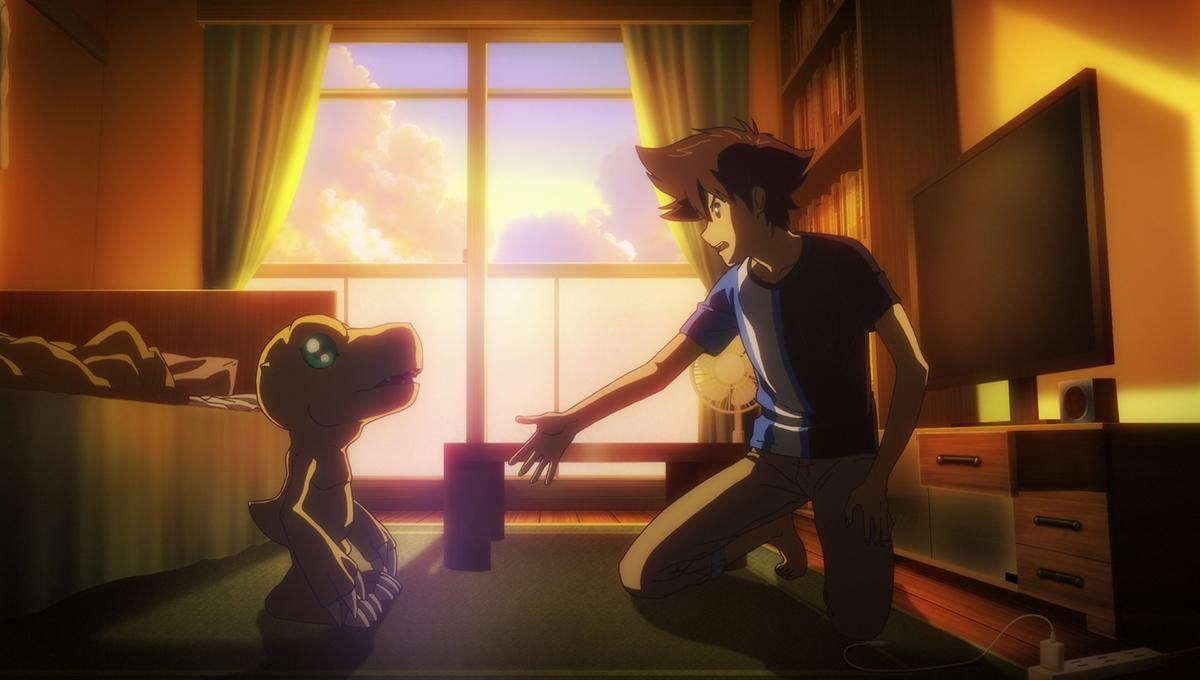 Agumon y Tai en Digimon Adventure: Last Adventure Kizuna