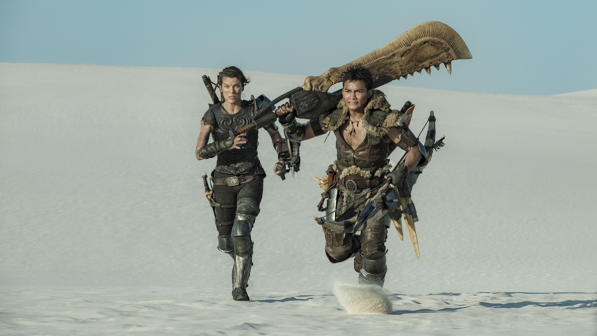 Milla Jovovich y Tony Jaa en Monster Hunter