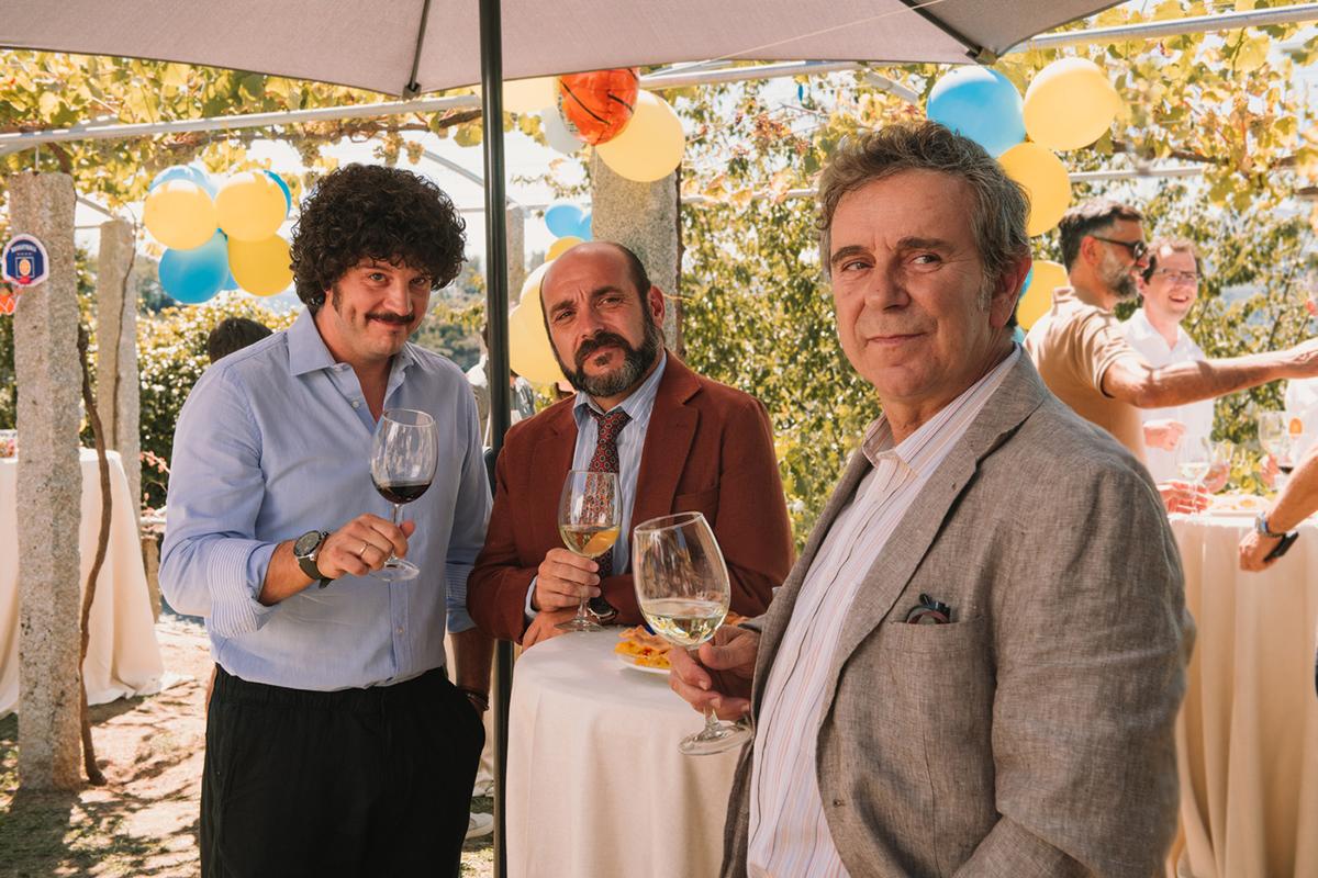 Xosé A. Touriñán, Federico Pérez Rey y Miguel de Lira en Cuñados